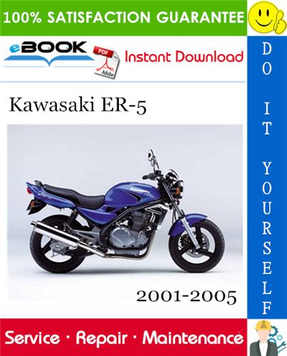 Thumbnail ☆☆ Best ☆☆ Kawasaki ER-5 Motorcycle Service Repair Manual 2001-2005 Download