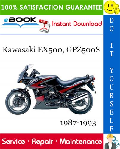 Thumbnail ☆☆ Best ☆☆ Kawasaki EX500, GPZ500S Motorcycle Service Repair Manual 1987-1993 Download