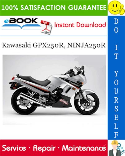 Thumbnail ☆☆ Best ☆☆ 1988 Kawasaki GPX250R, NINJA250R Motorcycle Service Repair Manual Supplement