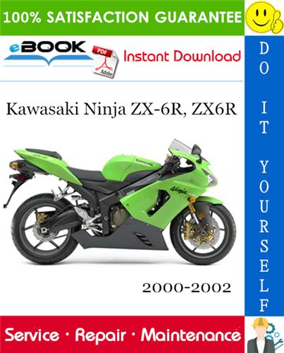 Thumbnail ☆☆ Best ☆☆ Kawasaki Ninja ZX-6R, ZX6R Motorcycle Service Repair Manual 2000-2002 Download