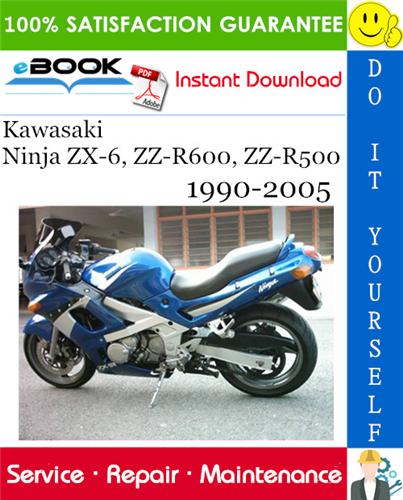 Thumbnail ☆☆ Best ☆☆ Kawasaki Ninja ZX-6, ZZ-R600, ZZ-R500 Motorcycle Service Repair Manual 1990-2005 Download