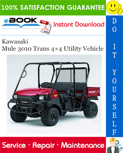 Thumbnail ☆☆ Best ☆☆ 2005 Kawasaki Mule 3010 Trans 4×4 Utility Vehicle Service Repair Manual