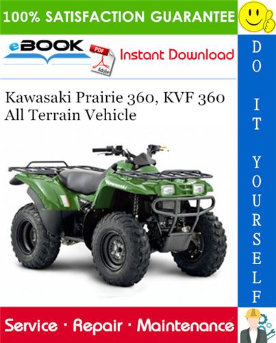 Thumbnail ☆☆ Best ☆☆ 2003 Kawasaki Prairie 360, KVF 360 All Terrain Vehicle Service Repair Manual