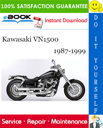 Thumbnail ☆☆ Best ☆☆ Kawasaki VN1500 Motorcycle Service Repair Manual 1987-1999 Download