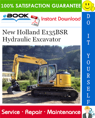 Thumbnail ☆☆ Best ☆☆ New Holland E135BSR Hydraulic Excavator Service Repair Manual