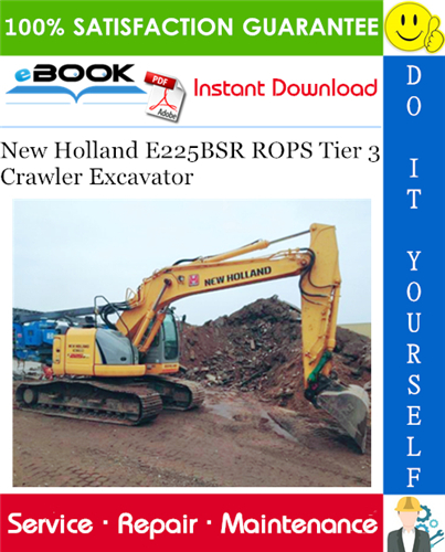 Thumbnail ☆☆ Best ☆☆ New Holland E225BSR ROPS Tier 3 Crawler Excavator Service Repair Manual