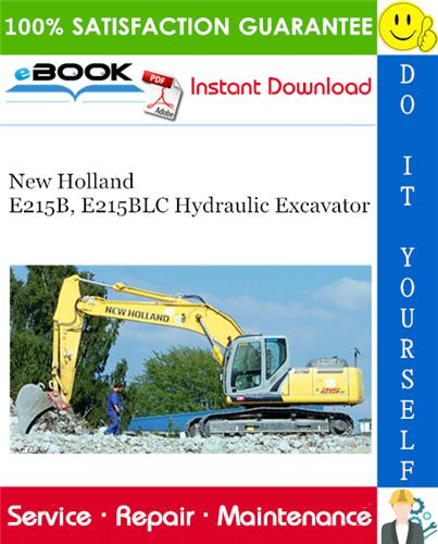 Thumbnail ☆☆ Best ☆☆ New Holland E215B, E215BLC Hydraulic Excavator Service Repair Manual