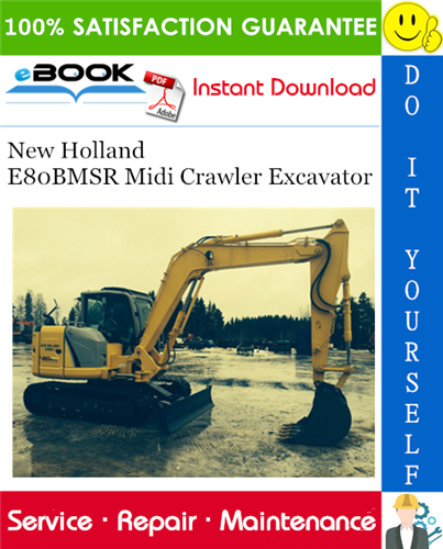 Thumbnail ☆☆ Best ☆☆ New Holland E80BMSR Midi Crawler Excavator Service Repair Manual
