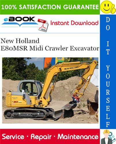 Thumbnail ☆☆ Best ☆☆ New Holland E80MSR Midi Crawler Excavator Service Repair Manual