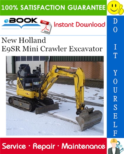 Thumbnail ☆☆ Best ☆☆ New Holland E9SR Mini Crawler Excavator Service Repair Manual