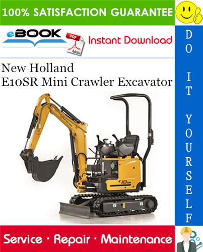 Thumbnail ☆☆ Best ☆☆ New Holland E10SR Mini Crawler Excavator Service Repair Manual