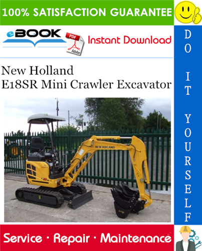 Thumbnail ☆☆ Best ☆☆ New Holland E18SR Mini Crawler Excavator Service Repair Manual