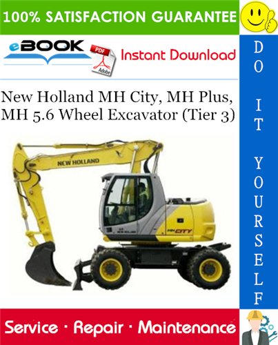 Thumbnail ☆☆ Best ☆☆ New Holland MH City, MH Plus, MH 5.6 Wheel Excavator (Tier 3) Service Repair Manual