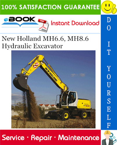 Thumbnail ☆☆ Best ☆☆ New Holland MH6.6, MH8.6 Hydraulic Excavator Service Repair Manual