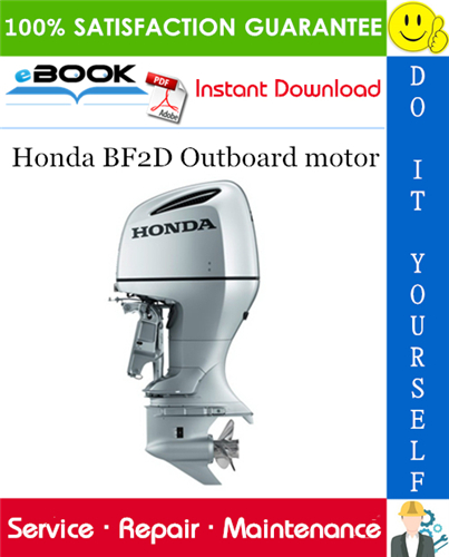 Thumbnail ☆☆ Best ☆☆ Honda BF2D Outboard motor Service Repair Manual