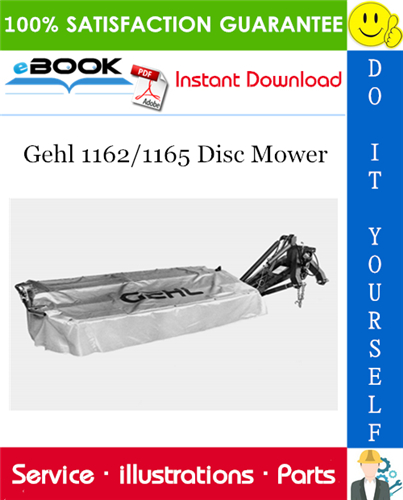 Thumbnail ☆☆ Best ☆☆ Gehl 1162/1165 Disc Mower Parts Manual
