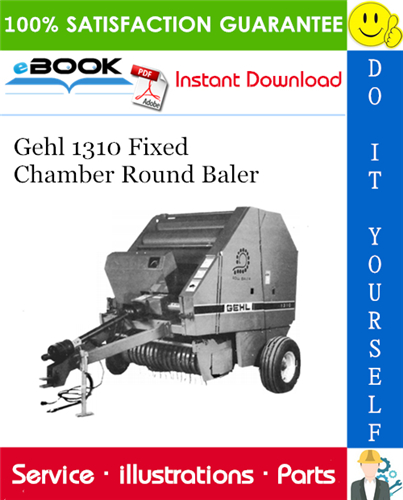 Thumbnail ☆☆ Best ☆☆ Gehl 1310 Fixed Chamber Round Baler Parts Manual