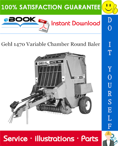 Thumbnail ☆☆ Best ☆☆ Gehl 1470 Variable Chamber Round Baler Parts Manual