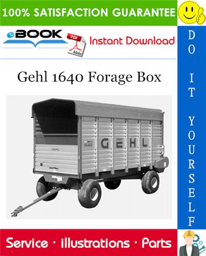 Thumbnail ☆☆ Best ☆☆ Gehl 1640 Forage Box Parts Manual