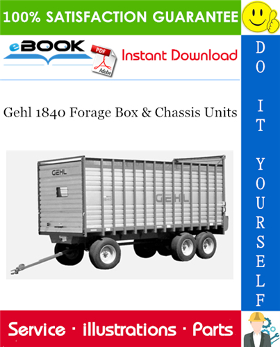 Thumbnail ☆☆ Best ☆☆ Gehl 1840 Forage Box & Chassis Units Parts Manual
