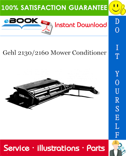 Thumbnail ☆☆ Best ☆☆ Gehl 2130/2160 Mower Conditioner Parts Manual