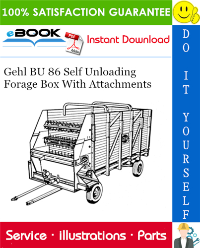 Thumbnail ☆☆ Best ☆☆ Gehl BU 86 Self Unloading Forage Box With Attachments Parts Manual