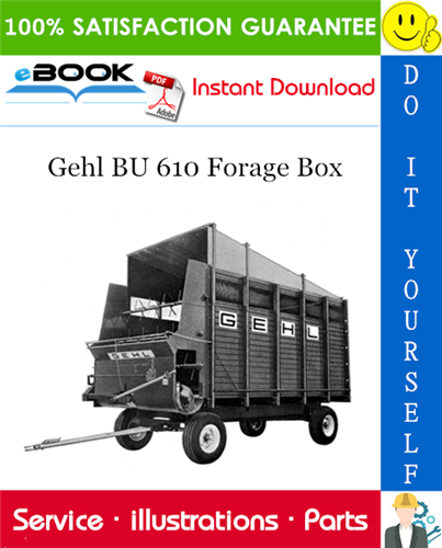 Thumbnail ☆☆ Best ☆☆ Gehl BU 610 Forage Box Parts Manual
