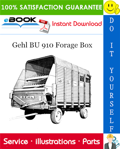 Thumbnail ☆☆ Best ☆☆ Gehl BU 910 Forage Box Parts Manual