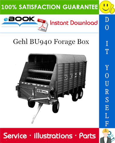 Thumbnail ☆☆ Best ☆☆ Gehl BU940 Forage Box Parts Manual