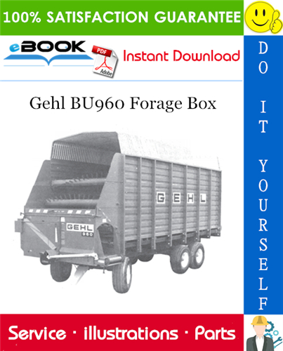 Thumbnail ☆☆ Best ☆☆ Gehl BU960 Forage Box Parts Manual