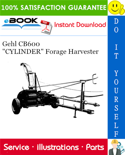 Thumbnail ☆☆ Best ☆☆ Gehl CB600 CYLINDER Forage Harvester Parts Manual
