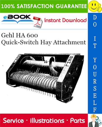Thumbnail ☆☆ Best ☆☆ Gehl HA 600 Quick-Switch Hay Attachment Parts Manual