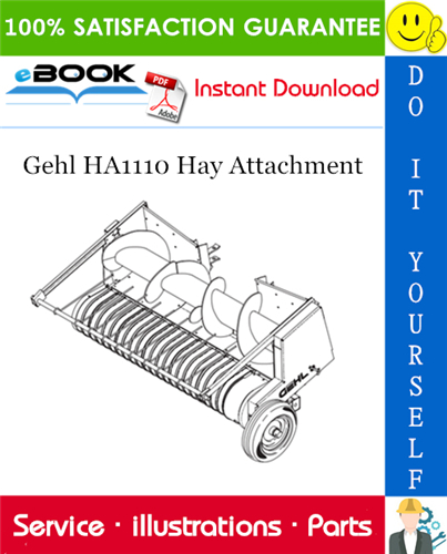 Thumbnail ☆☆ Best ☆☆ Gehl HA1110 Hay Attachment Parts Manual