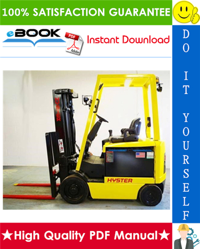 Thumbnail ☆☆ Best ☆☆ Hyster E45XM2, E50XM2, E55XM2, E60XM2, E65XM2 (F108) Cushion Tire Sit-Down Rider Electric Lift Trucks Parts Manual
