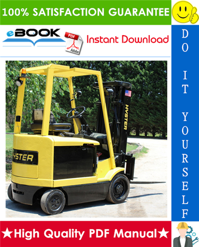 Thumbnail ☆☆ Best ☆☆ Hyster E45XM, E50XM, E55XM, E60XM, E65XM (F108) Cushion Tire Sit-Down Rider Electric Lift Trucks Parts Manual