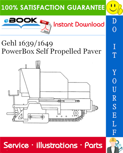 Thumbnail ☆☆ Best ☆☆ Gehl 1639/1649 PowerBox Self Propelled Paver Parts Manual