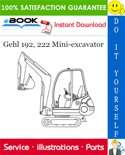 Thumbnail ☆☆ Best ☆☆ Gehl 192, 222 Mini-excavator Parts Manual