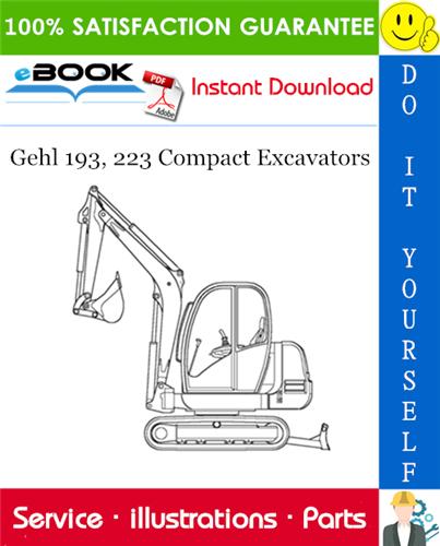Thumbnail ☆☆ Best ☆☆ Gehl 193, 223 Compact Excavators Parts Manual (Beginning Serial Number: AD00454)
