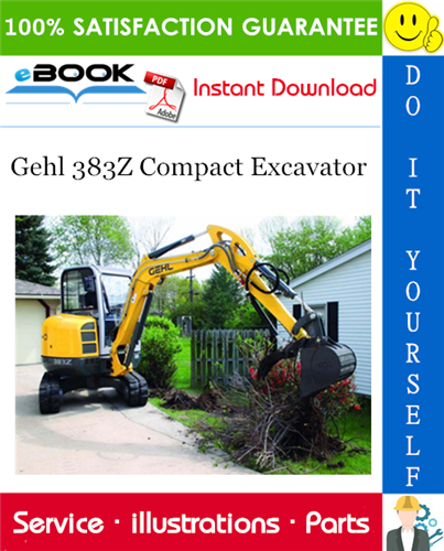 Thumbnail ☆☆ Best ☆☆ Gehl 383Z Compact Excavator Parts Manual