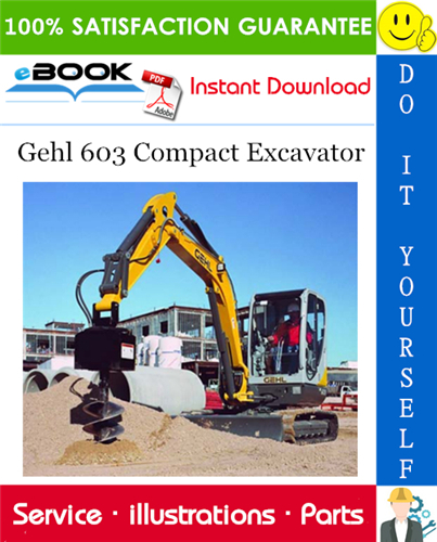 Thumbnail ☆☆ Best ☆☆ Gehl 603 Compact Excavator Parts Manual