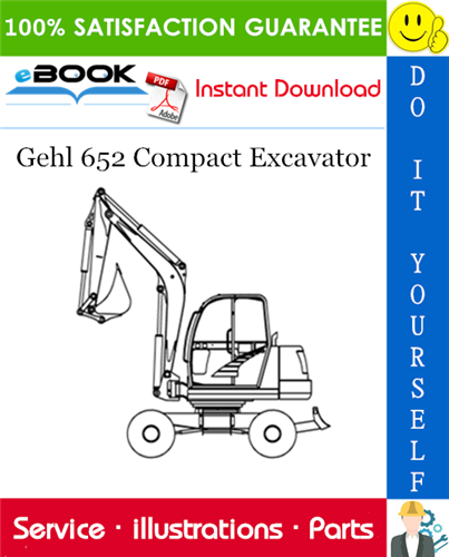 Thumbnail ☆☆ Best ☆☆ Gehl 652 Compact Excavator Parts Manual (Beginning Serial Number: AB00473)