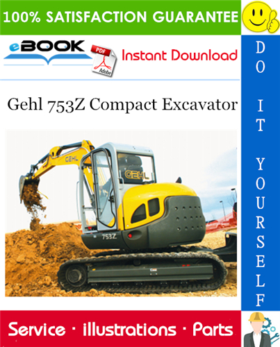 Thumbnail ☆☆ Best ☆☆ Gehl 753Z Compact Excavator Parts Manual