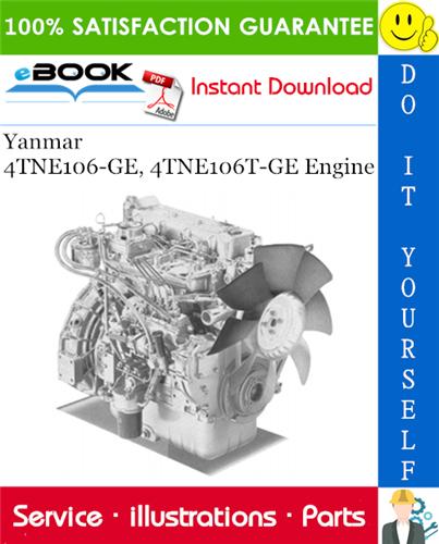 Thumbnail ☆☆ Best ☆☆ Yanmar 4TNE106-GE, 4TNE106T-GE Engine Parts Manual