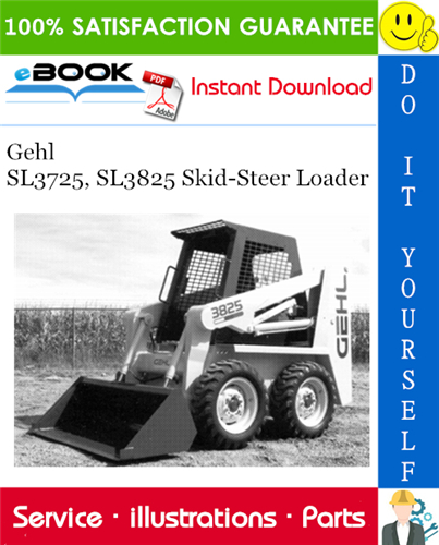 Thumbnail ☆☆ Best ☆☆ Gehl SL3725, SL3825 Skid-Steer Loader Parts Manual