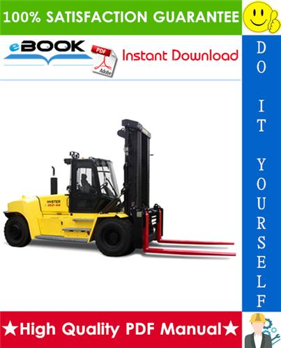 Thumbnail ☆☆ Best ☆☆ Hyster H550HD, H620HD, H650HD, H700HD, H550HDS, H650HDS, H700HDS (G008) High-Capacity Forklift Trucks Parts Manual