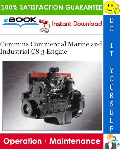 Thumbnail ☆☆ Best ☆☆ Cummins Commercial Marine and Industrial C8.3 Engine Operation & Maintenance Manual