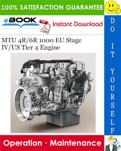Thumbnail ☆☆ Best ☆☆ MTU 4R/6R 1000 EU Stage IV/US Tier 4 Engine Operation & Maintenance Manual