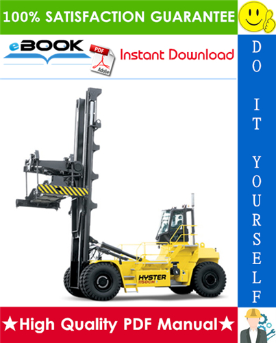 Thumbnail ☆☆ Best ☆☆ Hyster H1050HD-16CH, H1150HD-16CH (G117) Container Handlers Parts Manual