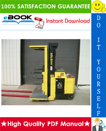Thumbnail ☆☆ Best ☆☆ Hyster R30XM2, R30XMA2, R30XMF2 (G118) Electric Narrow Aisle Order Picker Parts Manual