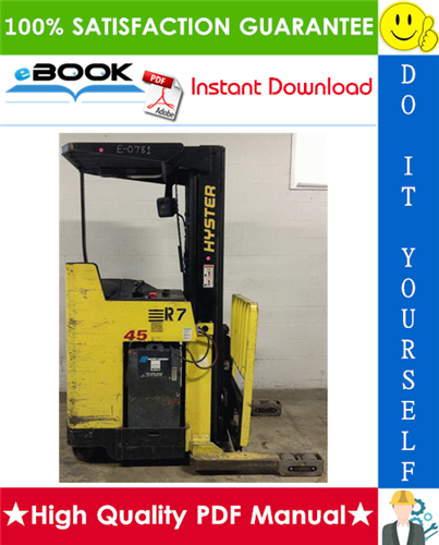 Thumbnail ☆☆ Best ☆☆ Hyster N30XMDR3, N45XMR3 (G138) Electric Narrow Aisle Double Reach Lift Trucks Parts Manual